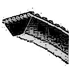 Эскиз клинового полиуретанового ремня
