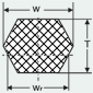 Технический чертеж шестигранного двухстороннего ремня
