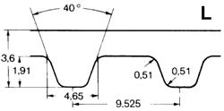 Ремень зубчатый L