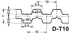 Ремень зубчатый D-T10