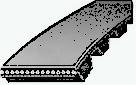 Ремень зубчатый дюймовый шаг