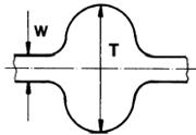 Чертеж двухсторонних метрических ремней