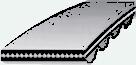 Эскиз ремня зубчатого с метрическим шагом
